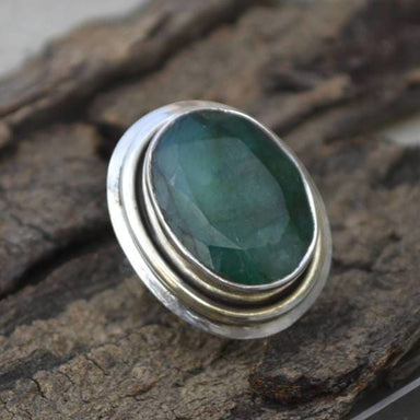 Rings Natural Emerald Gemstone May Birthstone Ring