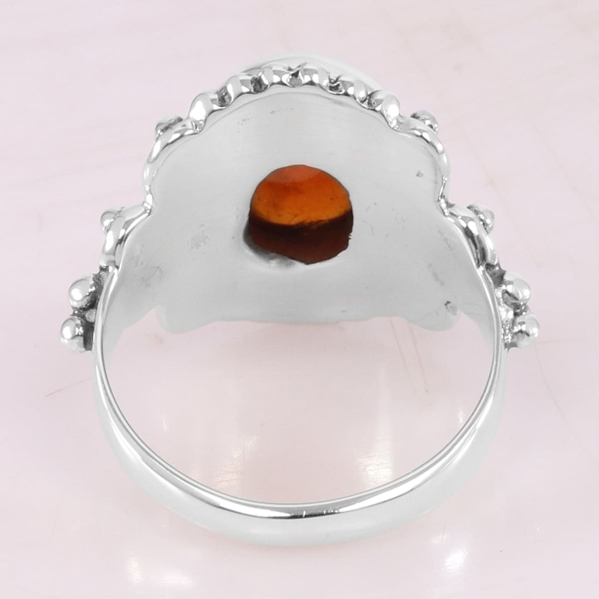 Natural Garnet Ring 925 Sterling Silver Hessonite Bohemian Style Handmade Statement - by Rajtarang