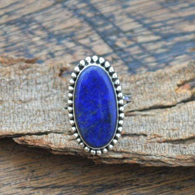 Rings Natural Lapis Lazuli Gemstone 925 Sterling Silver Designer Gift Ring January Birthstone