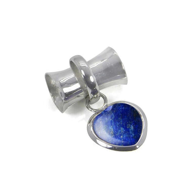 Necklaces Natural Lapis Lazuli Heart Shape 925 Sterling Silver Handmade Pendant