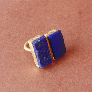 Natural Lapis Lazuli September Birthstone Everyday Wear Fashion Ring - by Bhagat Jewels