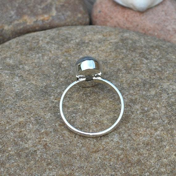 Rings Natural Rainbow Moonstone Gemstone Ring 925 Sterling Silver Handmade Gift