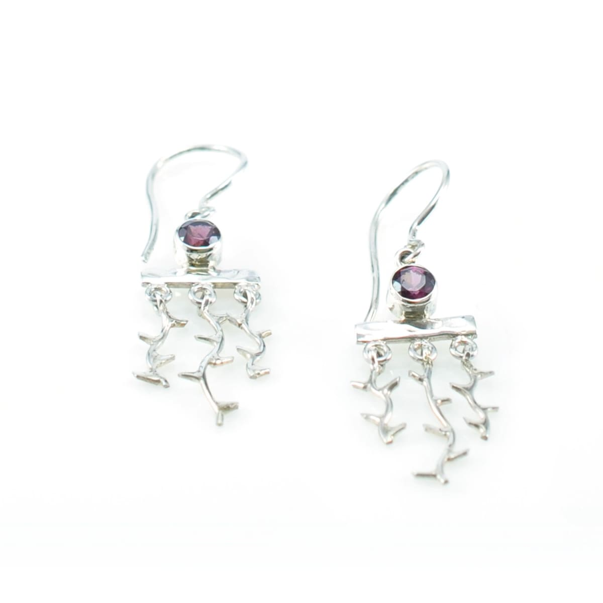 Nature's Window Earrings with Rubelite