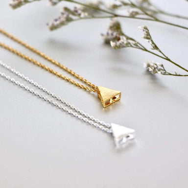Necklaces Necklace Set Gold And Rhodium Triangle Charm Dipped Minimalist Gift (SS99/100)