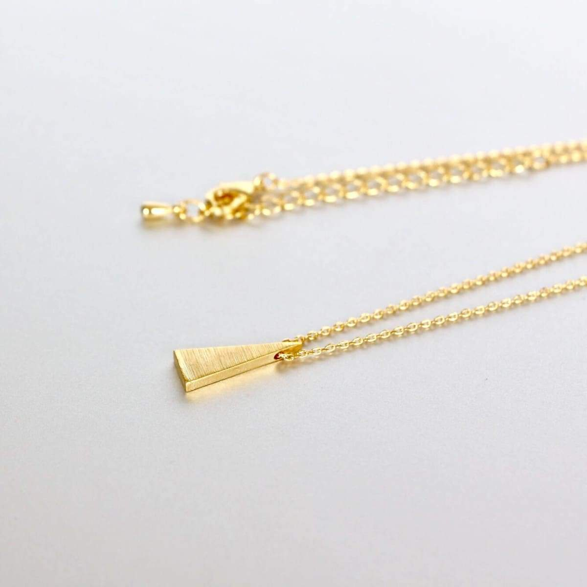 Necklaces Necklace Set Triangle Gold And Rhodium Charm Dipped Minimalist Bohochic Gift (SN81/82)