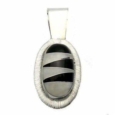 Onyx Pendant Mother of Pearl Pendant - Necklaces