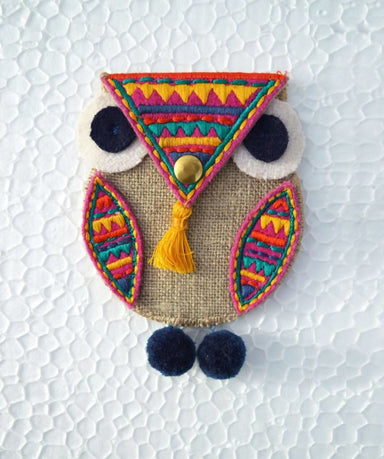 Pouches Owl coin bag wire holder handmade gift bohemian moroccan size 4X3 inches - by VLiving