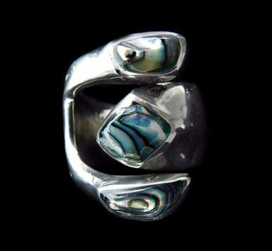 rings Pacific Blue Abalone Dream Ring - by Artesanas Campesinas