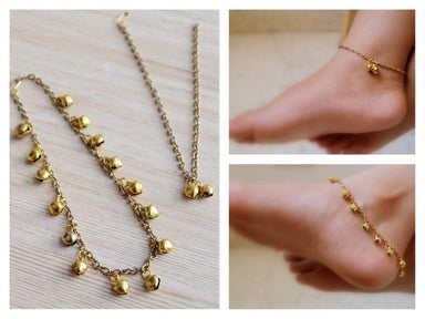 Anklets Payal | Ghungroo | Anklet | Gold bell anklet | Bridal | Casual and Festive | Gift for Indian Bride | Beach Wear| Boho