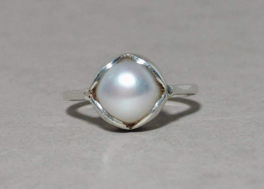 Rings Pearl Ring Handmade 925 Sterling Silver Gemstone Fresh Water Solid Everyday