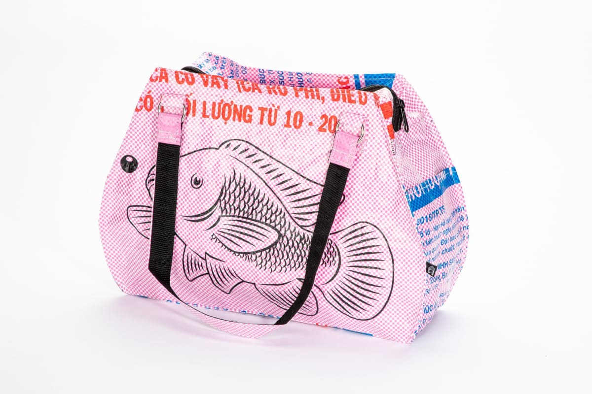 Handbags Picnic Hand Bag - Pink Fish by TORRAIN