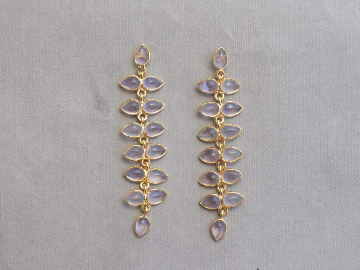 Earrings Pink Amethyst Gold plated Sterling Silver without stone Jewelry
