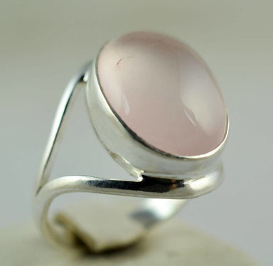Rings Pink Gemstone Ring in Sterling Silver