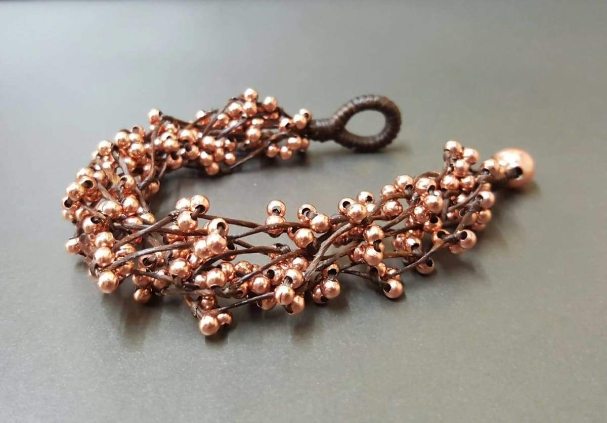 Bracelets Pink Gold Spacer Bunch Bracelet