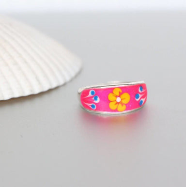 Rings Pink Toe Ring Sterling Silver Minimalist Simple Gift For Her Band Bohemian,Beach Wear (TS84)