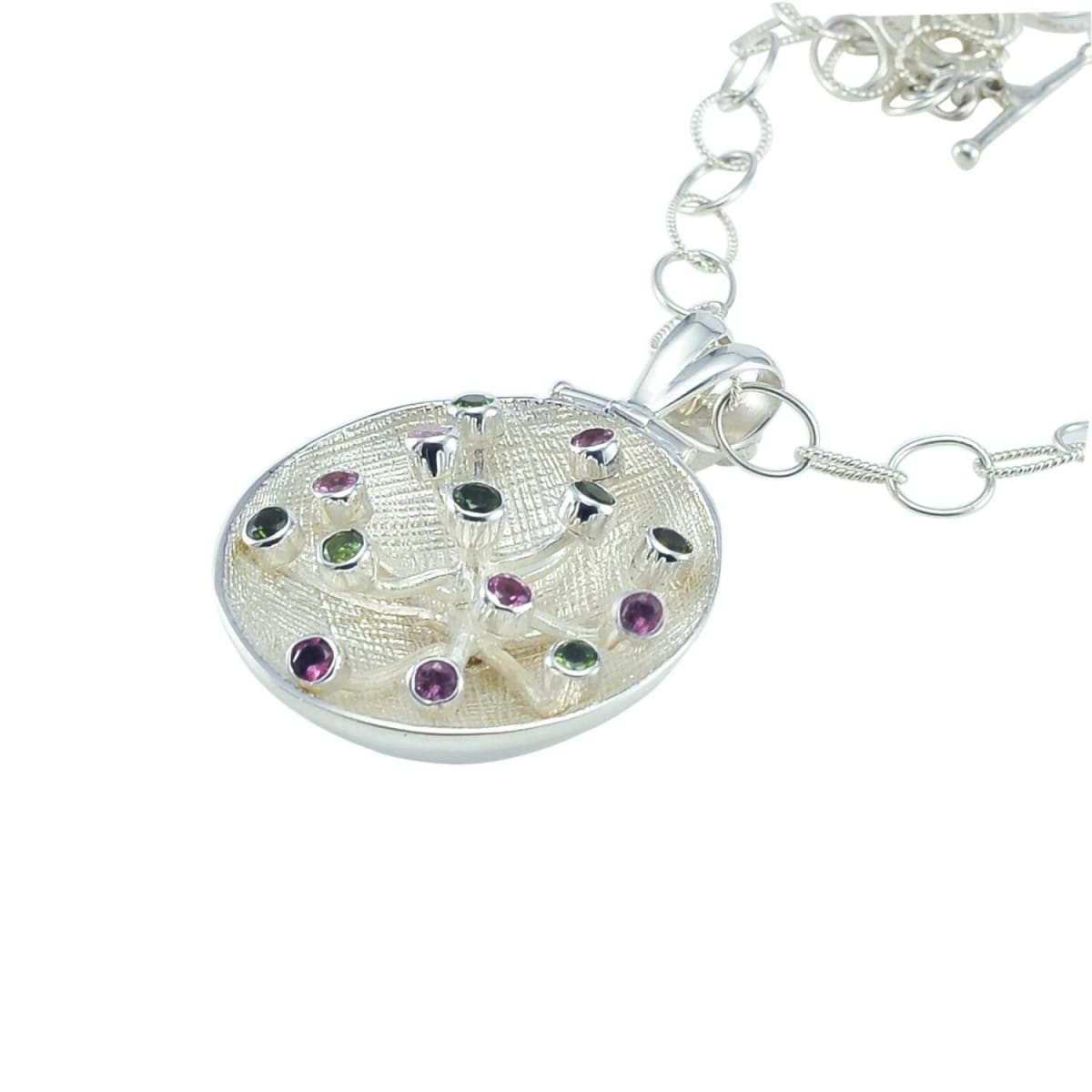 Necklaces Pollinate Pendant with Mixed Tourmalines