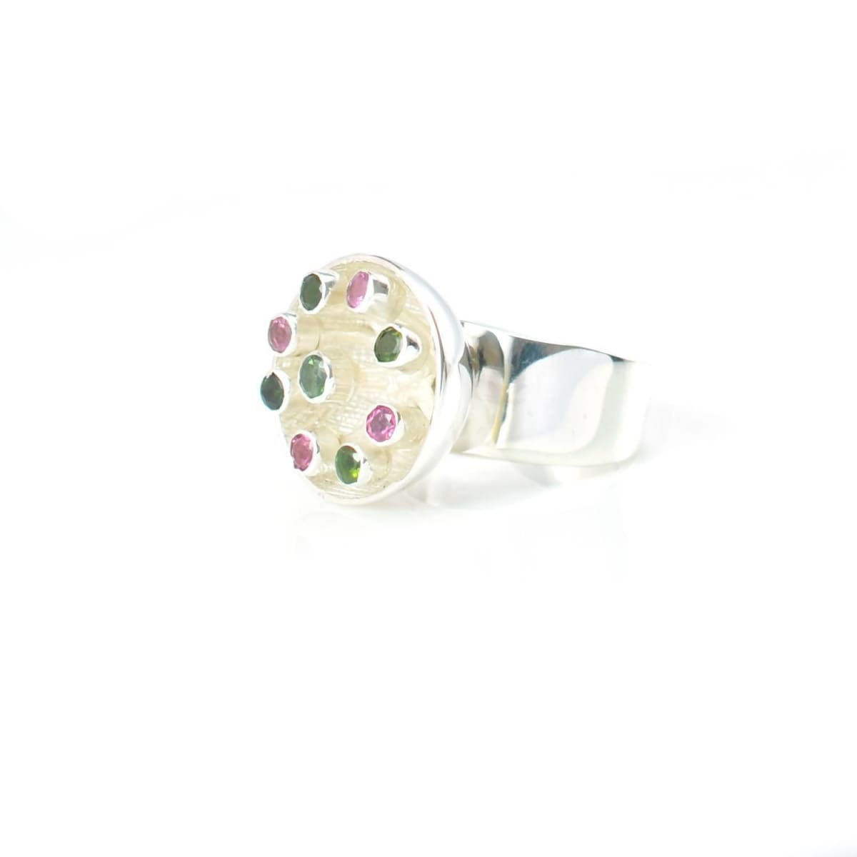 Rings Pollinate Ring with Mixed Tourmalines