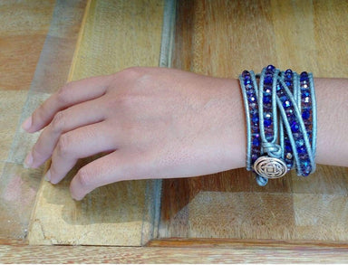 Bracelets Purple Mix Crystal Wrap Bracelet