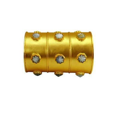 Bracelets Rainbow Moonstone Designer Gold Plated Adjustable Cuff Bracelet