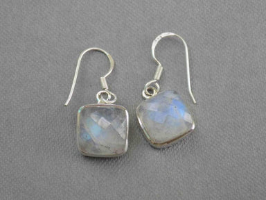 Earrings Rainbow Moonstone Sterling Silver Genuine Gemstone Jewelry UniqueSilverZone