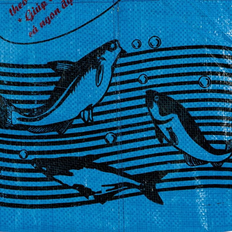 Wallets Range Tri-Fold Wallet - Dark Blue Fish by TORRAIN