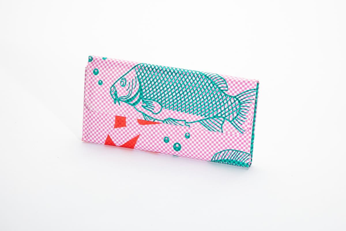 Wallets Range Tri-Fold Wallet - Pink Fish by TORRAIN