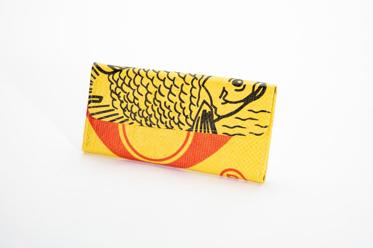 Wallets Range Tri-Fold Wallet - Yellow Fish by TORRAIN