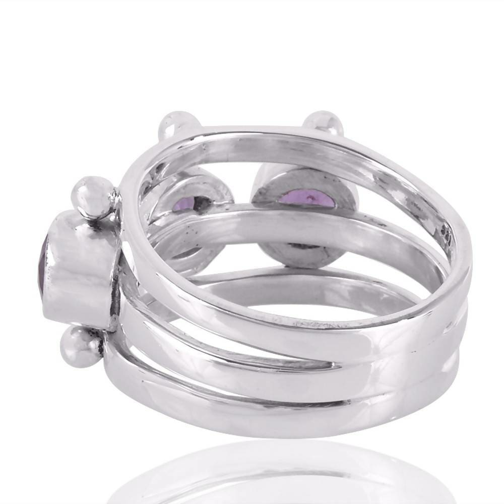 Rings Real Amethyst Ring Sterling Silver Purple Gemstone