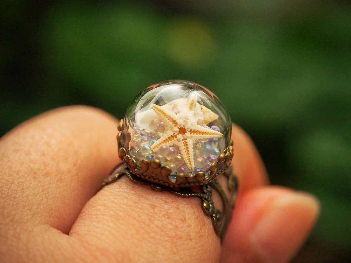 Rings Real Starfish Mermaid Ring - Title by StylishNature