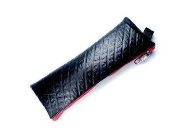 Pouches Recycled black vegan pencil pouch