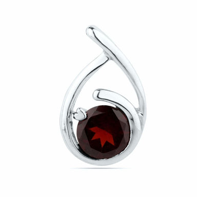Red GARNET Pendant Natural Garnet Engagement Pendent Woman Necklace Round oval Stone