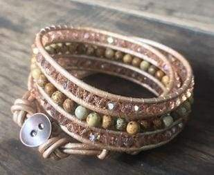 Bracelets Ronda Beaded Wrap Bracelet Blush