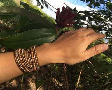 Bracelets Ronda Beaded Wrap Bracelet Gold