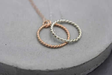 Bracelets Rope ring silver bracelet in rose gold finish