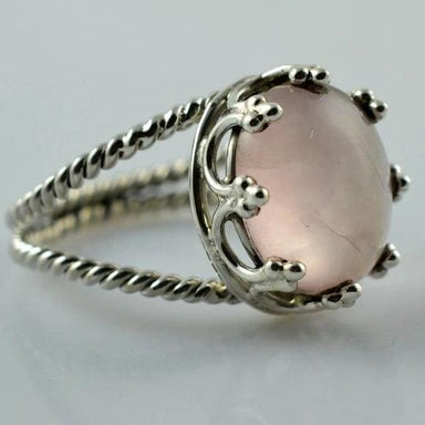 Rings Rose Quartz 925 Sterling Silver Handmade Ring for Women - 4 by Navya Craft