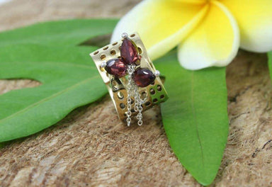 Rings On Safari Ring with Garnets Adjustable