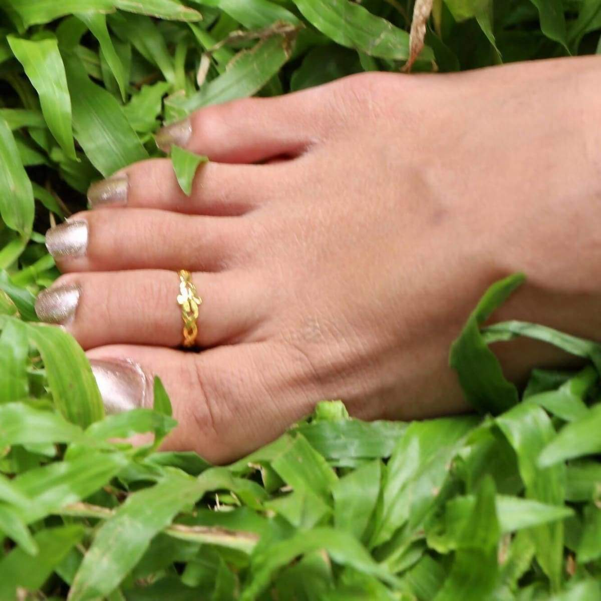 Rings Set Of Gold And Rose Toe Ring,Adjustable Band Minimalist Ring Gift under 10 Boho Style Feet Jewelry (TS32P/G)