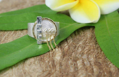 Rings Shield of Light Ring Silver and Gold