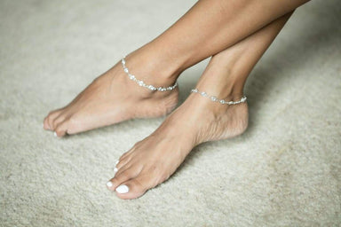 Anklets Silver Anklet Chain and Spiral anklet Sterling (AS40)
