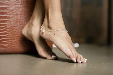 Anklets Silver Anklet Hearts And Bells Sterling Chain (AS42)