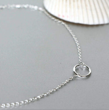 Anklets Silver Circle Anklet Sterling Minimalist Simple Beach Wear Boho Jewelry Foot Chain AS110