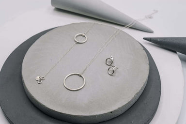 Necklaces Silver circle pendant minimalist necklace