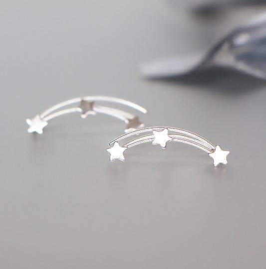 Earrings Silver Ear Creeper Star Minimalist Bohemian Crawler Brides Accessories Jewelry Gifting,(E75)