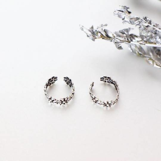 Earrings Silver Ear Cuff Non Piercing Cartilage Minimalist Bohemian Adjustable Accessory (E70)