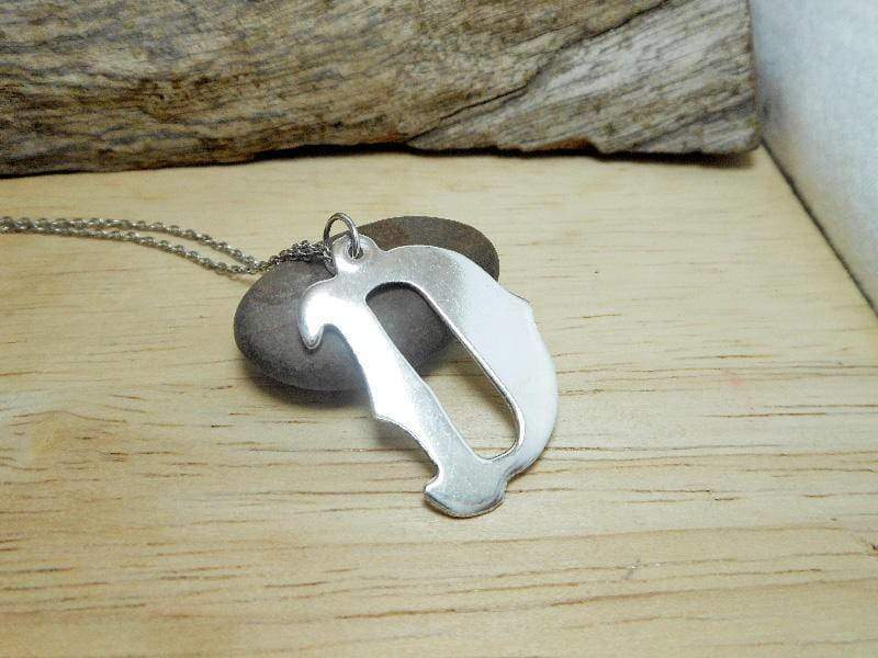 Necklaces Silver Letter D Charm 925 Sterling Alphabet Initial
