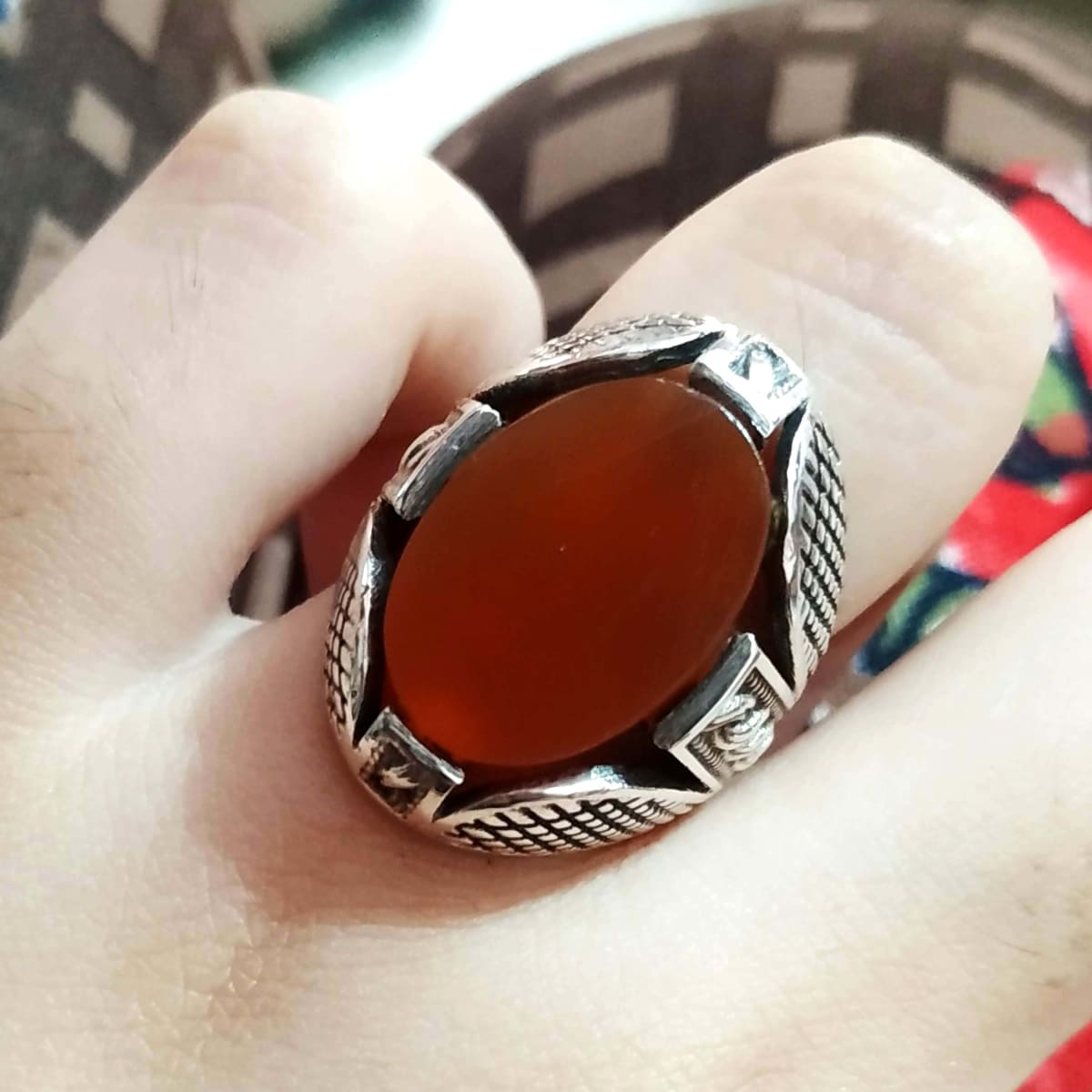 Ring Silver Men's Ring,Silver Mens ring,Red Agate Ring,Red Carnelian 925 Sterling Men Ring,Ring For Men,Agate Ring,Turkish Boyfriend Gift -