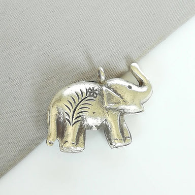 necklaces Elephant Necklace - Chunky Charm - Bohemian Pendant - Silver Neck - Bracelet - Indian - PD402 - by NeverEndingSilver