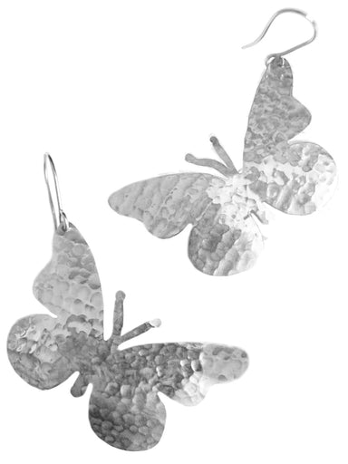 Silver Overlay Butterfly Earrings - by Artesanas Campesinas
