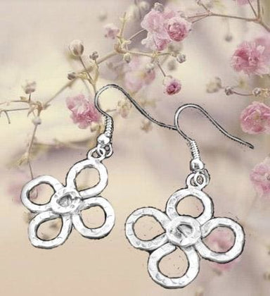Silver Overlay Clover Earrings - by Artesanas Campesinas