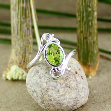 Rings Silver peridot Ring Designer 925 Jewellery filigree ring